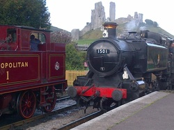 Tank Engines at Corfe Castle Station