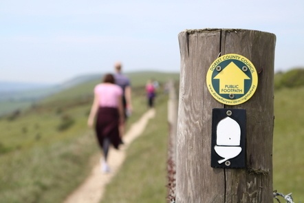 Choose between the Purbeck Way and the South West Coast Path