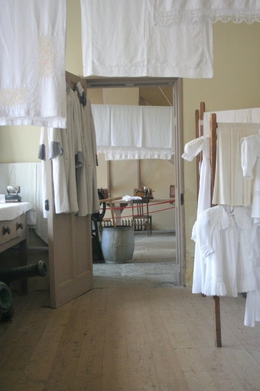Getting whites right in the laundry at Kingston Lacy House
