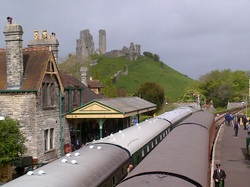 Steam trains at Corfe