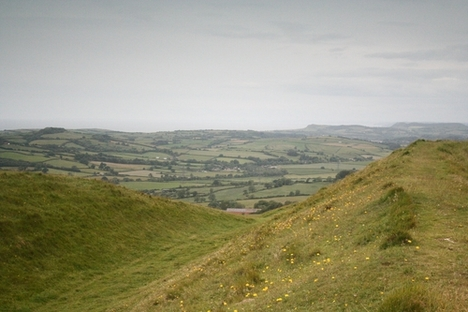 Iron age Hill Fort at Eggardon