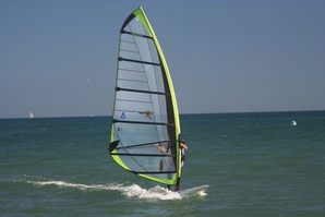 Windsurfing in Weymouth Bay