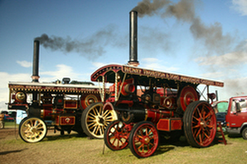 Engines at the Great Dorset Steam Fair