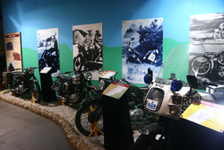 White Helmet Motor Cycles at the Royal Signals Museum