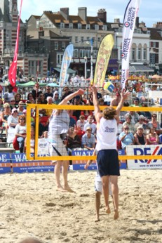 Beach volleyball on Weymouth Sands