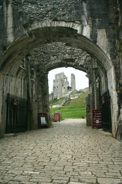 Entrance to Corfe Castle