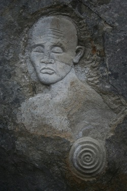 Carvings at Tout Quarry