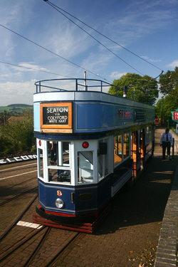 Seaton Tram at Colyton on the Seaton Tramway