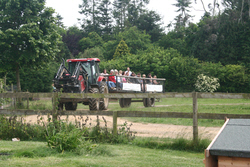 The tractor ride at Farmer Palmers