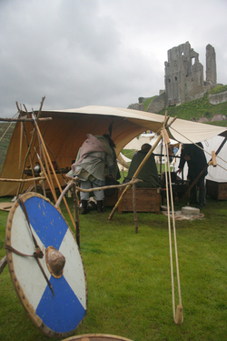 Saxon encampment at Corfe Castle