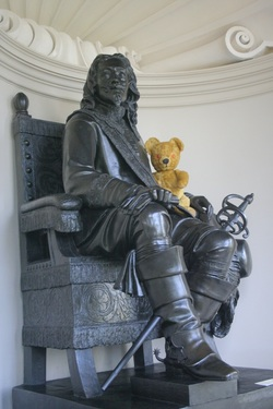 King Charles and a Teddy Bear! At Kingston Lacy House