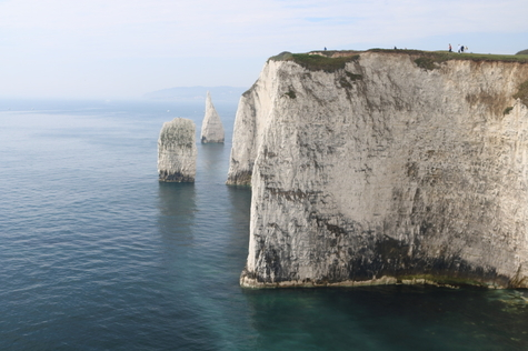 The Pinnacles - the Wedge and the Haystack - looking towards Ballard Point from Old Harry Rocks