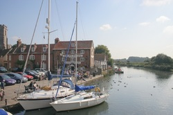Yachts at the quayside in Wareham